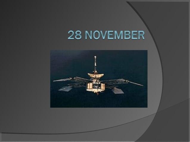 Mariner 4 Amerikaanse  onbemande sonde die  langs Mars vliegt Gelanceerd op 28  november 1964