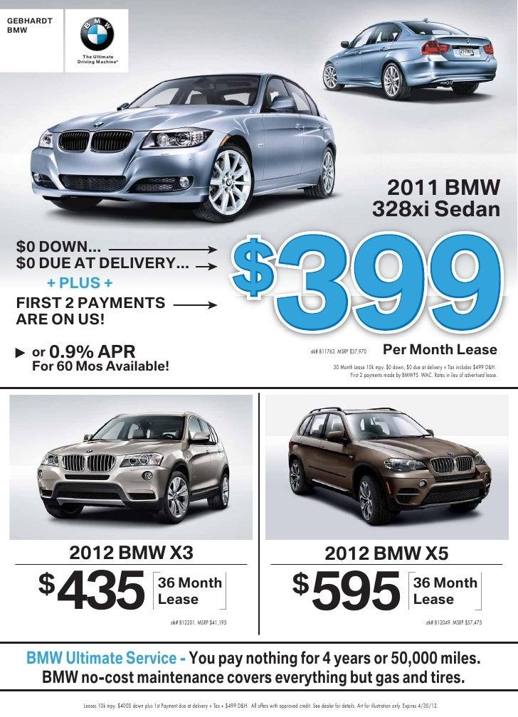 Bmw 435 Lease >> Gebhardt Bmw April2012 Denver Bmw Specials