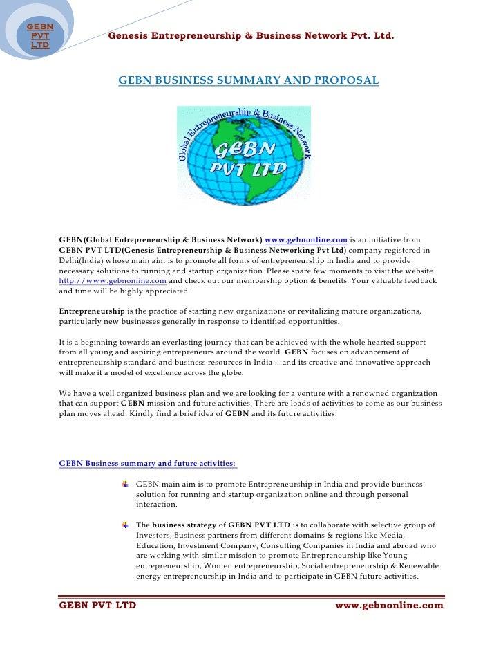 GEBN  PVT                Genesis Entrepreneurship & Business Network Pvt. Ltd.  LTD                           GEBN BUSINES...