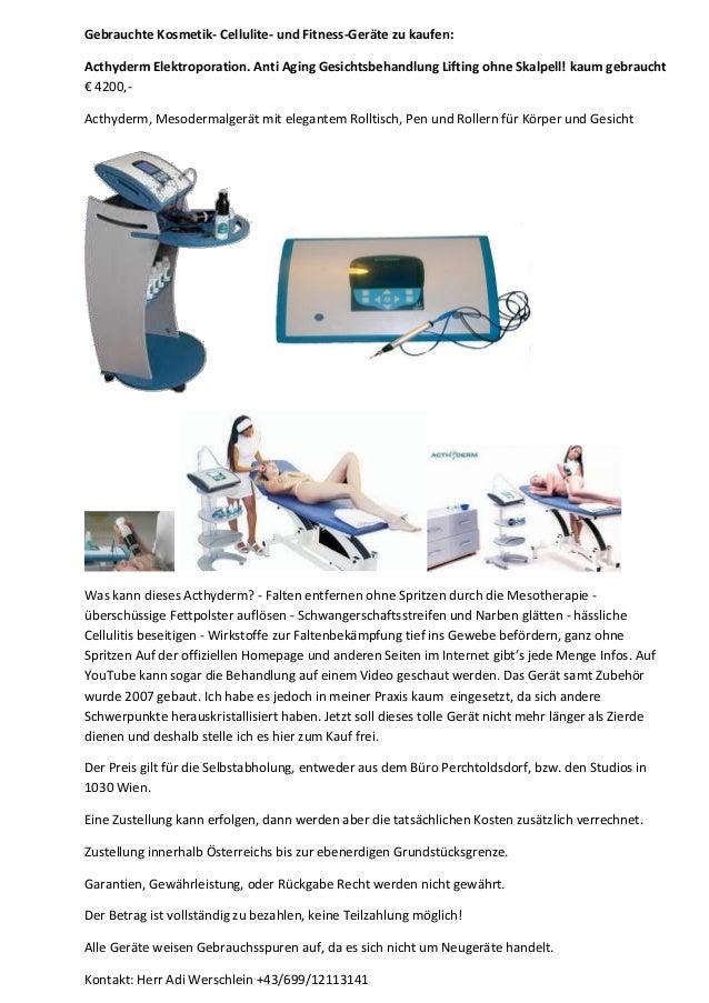 Gebrauchte Kosmetik- Cellulite- und Fitness-Geräte zu kaufen: Acthyderm Elektroporation. Anti Aging Gesichtsbehandlung Lif...