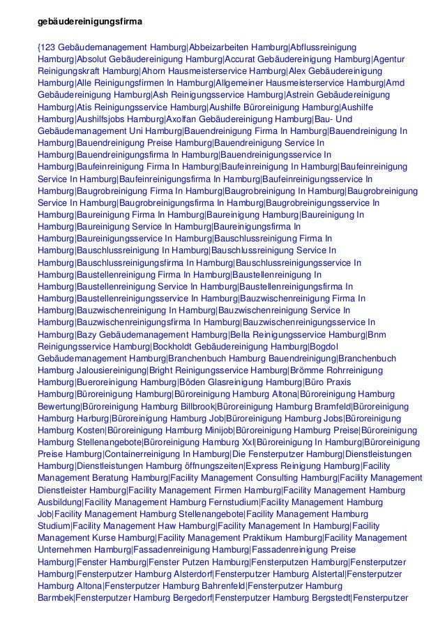 gebäudereinigungsfirma {123 Gebäudemanagement Hamburg|Abbeizarbeiten Hamburg|Abflussreinigung Hamburg|Absolut Gebäudereini...