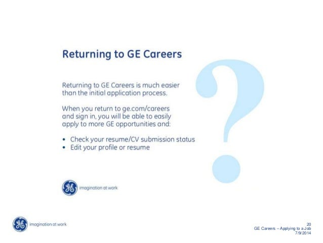 How To Apply For A Job At Ge