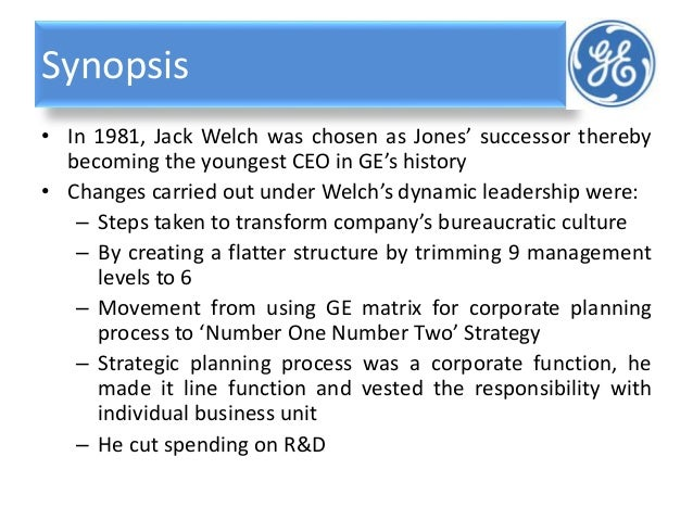 jack welch and jeffery immelt continuity and change in strategy sty