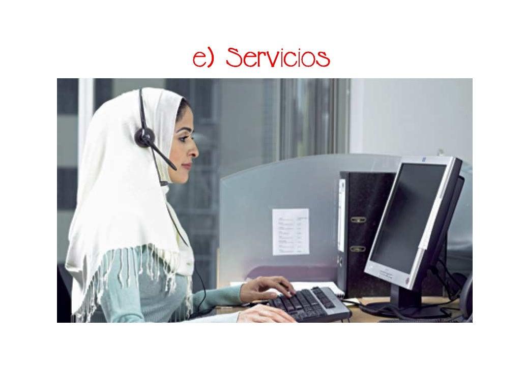 e) Servicios