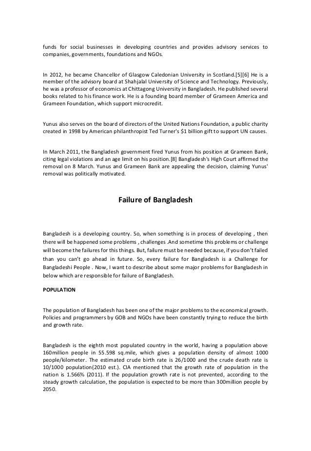 Development & Bangladesh : Achievements & Failures