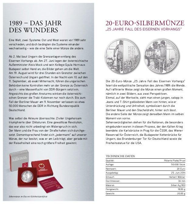 20 Jahre Mauerfall Münze Lerepairedugame