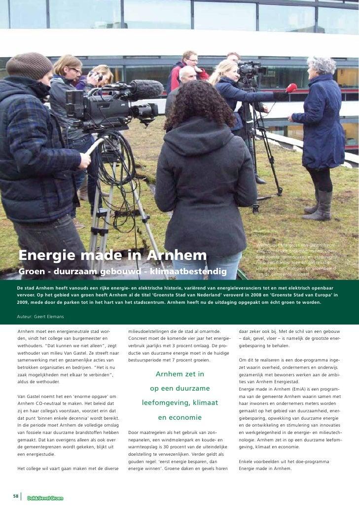 Wethouder Margreet van Gastel (recre- Energie made in Arnhem                                                              ...