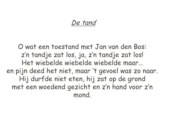 Vaak Gedicht De Tand &CA59