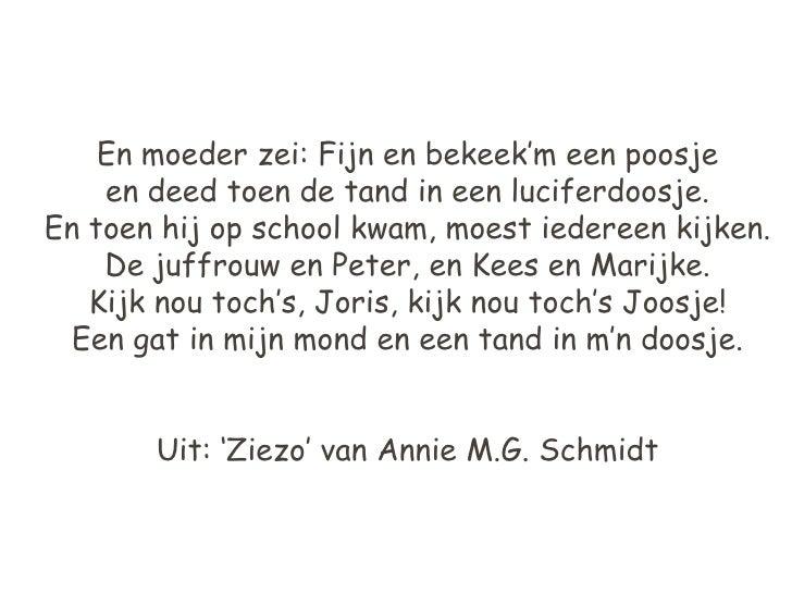 New Gedicht De Tand #NG88
