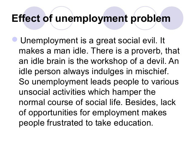 the psychological effects of unemployment essay psychological effects of unemployment and underemployment we will write a custom essay sample on psychological effects of unemployment and underemployment.