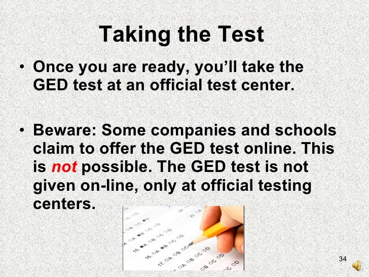 how to take online ged test
