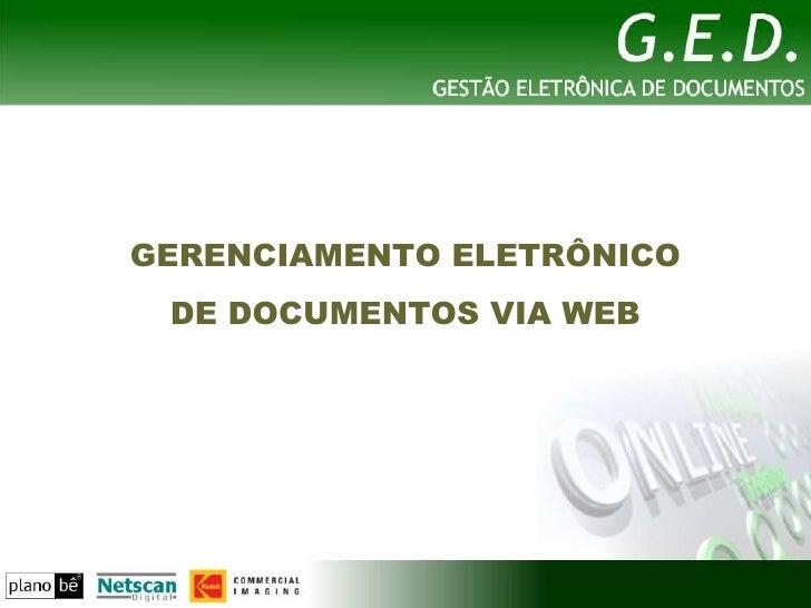 GED Web - Gestão eletrônica de Documentos