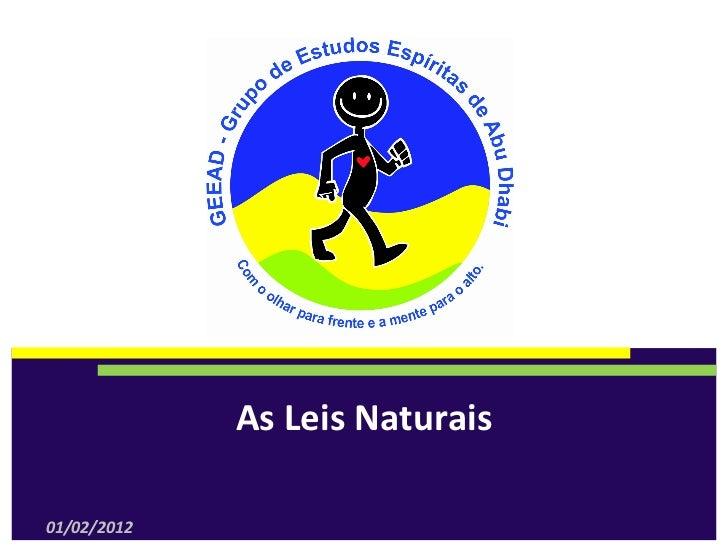 AsLeisNaturais01/02/2012