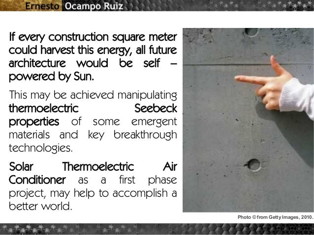Solar Thermoelectric Air Conditioner & other Thermoelectric Architect…