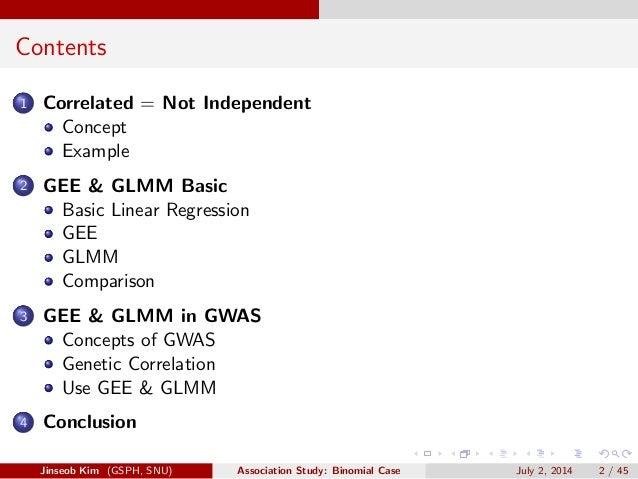 GEE & GLMM in GWAS Slide 2