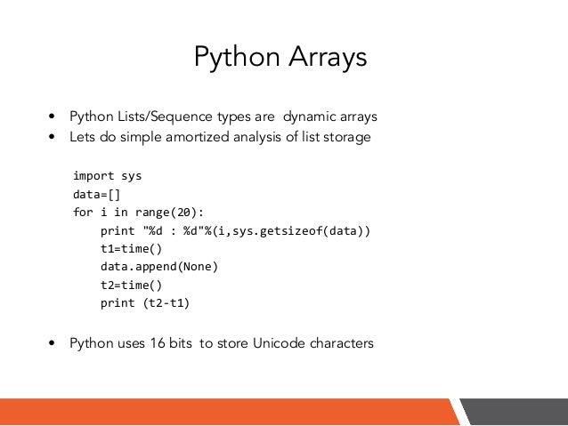 python how to create an array