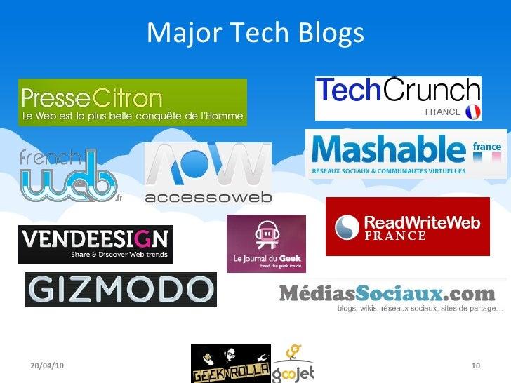 Major Tech Blogs 20/04/10