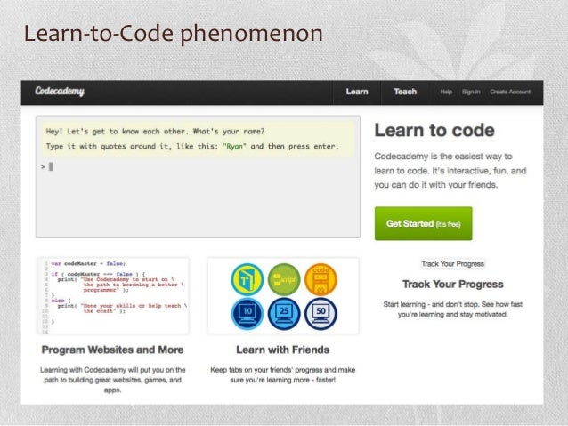 Learn-to-Code phenomenon