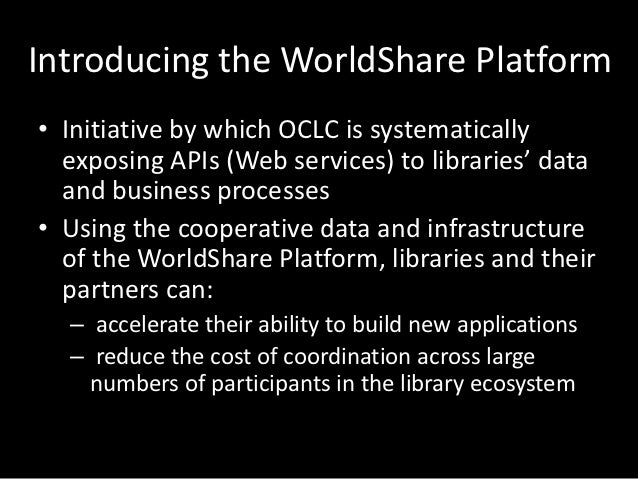 Platform U• Series of coding courses sponsored by OCLC• Address a range of skill levels with different  classes  – Startin...