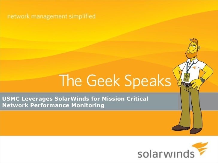 USMC Leverages SolarWinds for Mission Critical Network Performance Monitoring