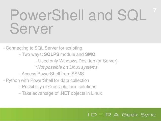 Using PowerShell with Python and SQL Server