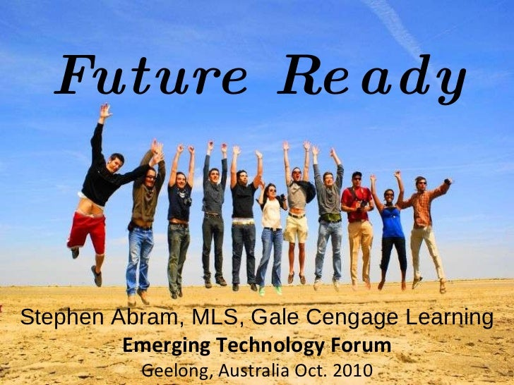 Leah Krevit Rice University The Rest of Us Stephen Abram, MLS, Gale Cengage Learning Emerging Technology Forum Geelong, Au...
