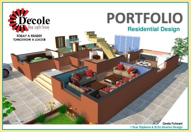 Geeta Fulwani B Sc Interior Design Residential Portfolio