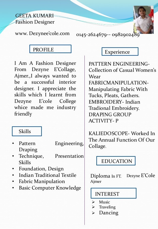 Geeta Kumari Fashion Design Student Nsqf Level 5