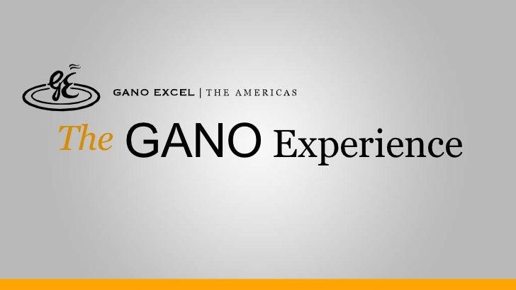 The GANO  Experience