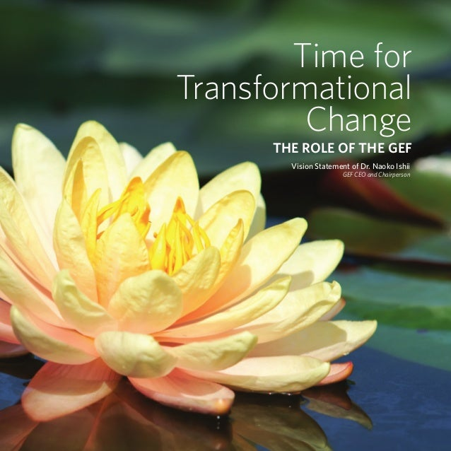 Time for                                                            Transformational                                      ...