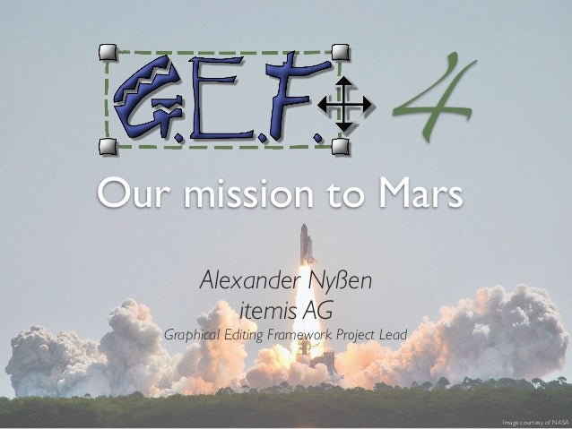 Alexander Nyßen itemis AG Graphical Editing Framework Project Lead Image courtesy of NASA 4 Our mission to Mars