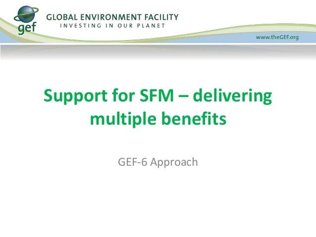 Support for SFM – delivering  multiple benefits  GEF-6 Approach