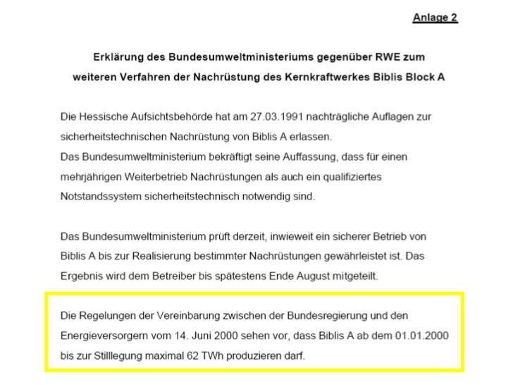Versicherungswert beim Atomgau                                 50 Euro          100.000 Euro