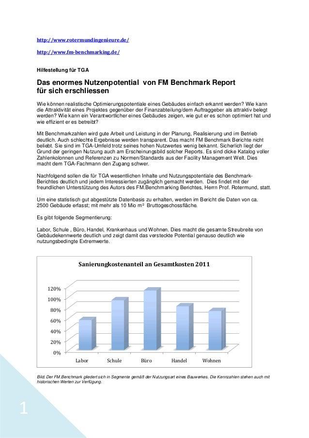 http://www.rotermundingenieure.de/ http://www.fm-benchmarking.de/ benchmarking.de/  Hilfestellung für TGA  Das enormes Nut...