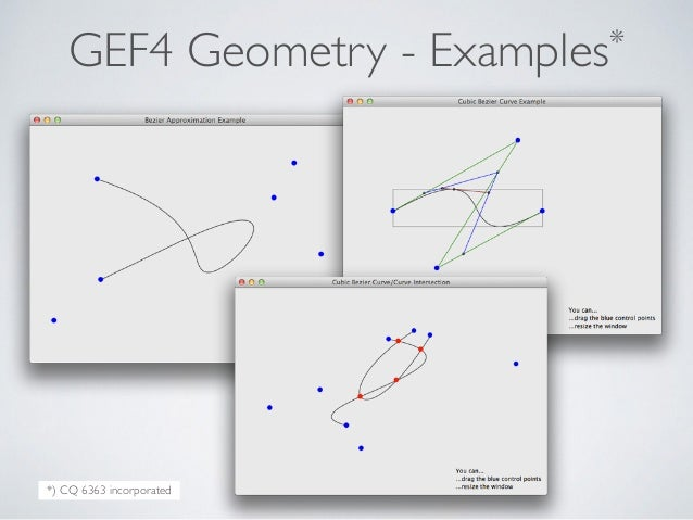 GEF4 Geometry - Examples* *) CQ 6363 incorporated
