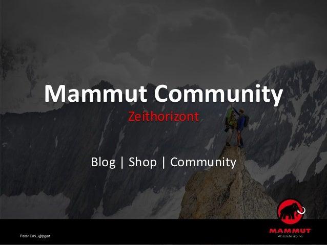 Mammut Community Zeithorizont Blog | Shop | Community Peter Erni, @pgart