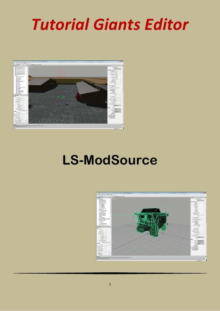 Tutorial Giants Editor         LS-ModSource               1
