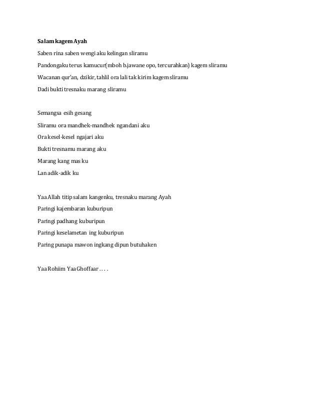 Contoh Geguritan Bahasa Jawa