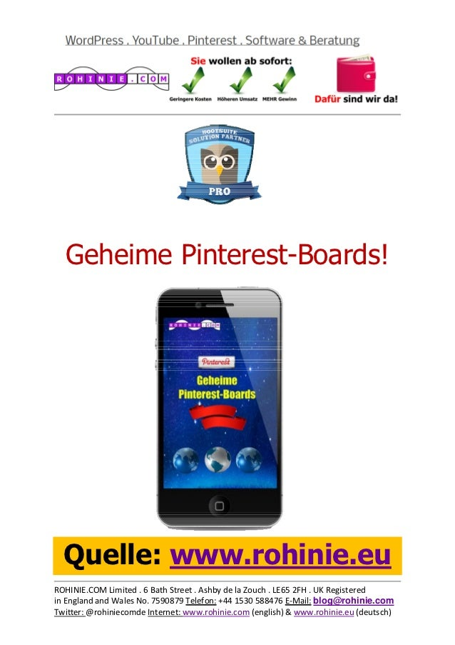 Geheime Pinterest-Boards!...