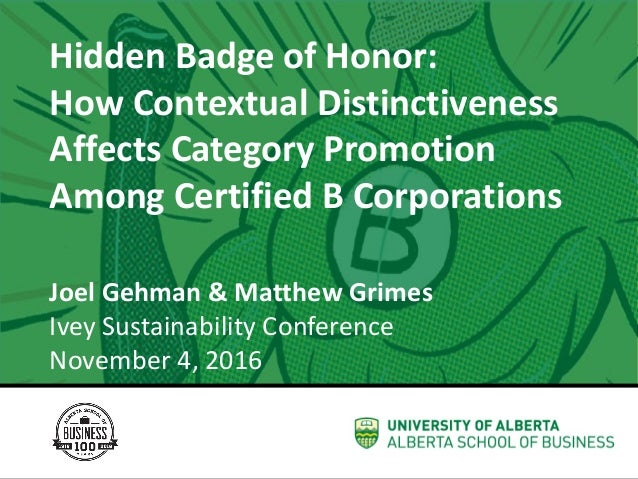 The WellWiki Project Joel Gehman Assistant Professor Strategic Management & Organization Hidden	Badge	of	Honor:	 How	Conte...