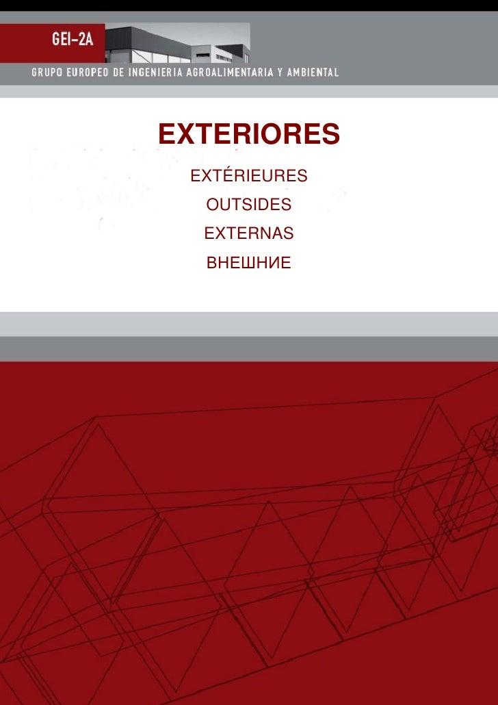 EXTERIORES EXTÉRIEURES  OUTSIDES  EXTERNAS  ВНЕШНИЕ