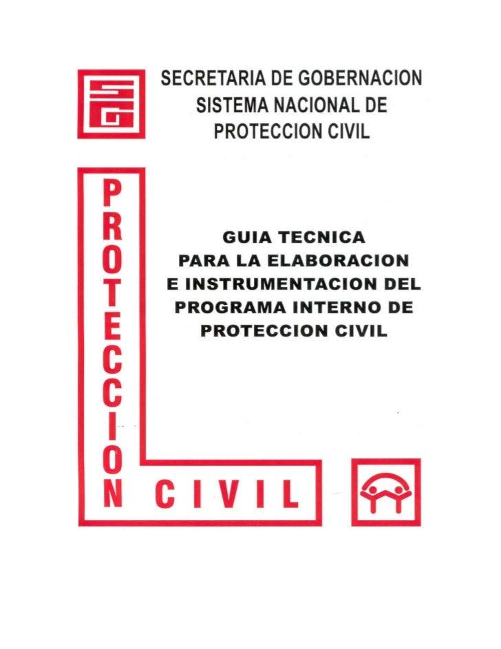 Guia para la elaboracion e implementacion del plan interno de proteccion civil
