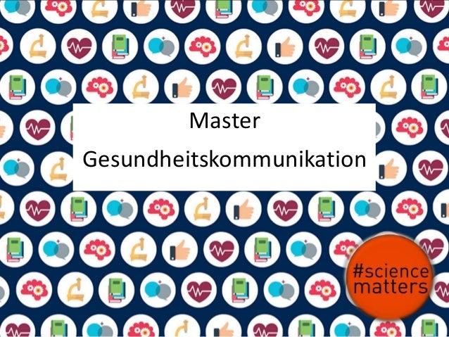 Master Gesundheitskommunikation