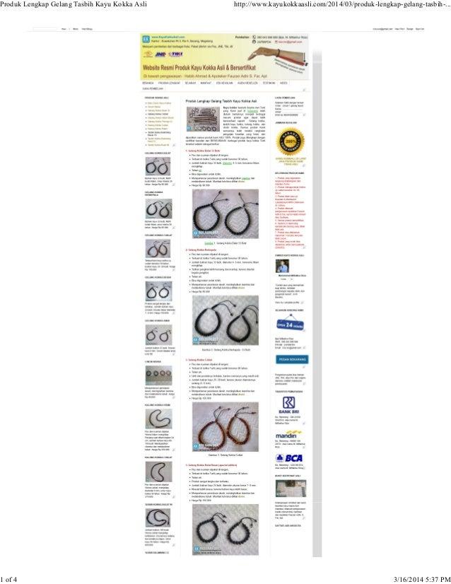 Produk Lengkap Gelang Tasbih Kayu Kokka Asli http://www.kayukokkaasli.com/2014/03/produk-lengkap-gelang-tasbih-... 1 of 4 ...