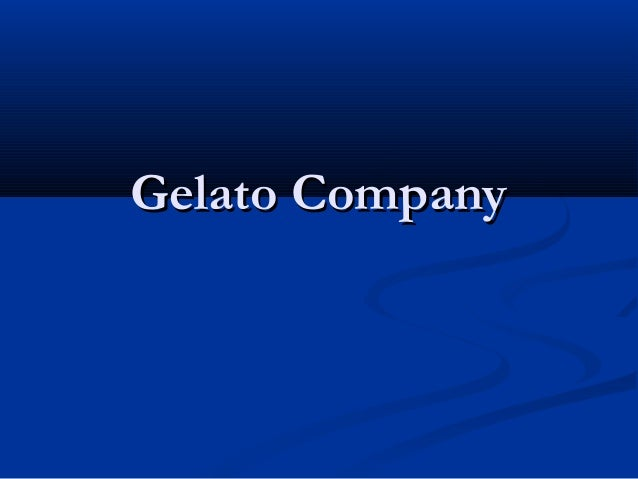 Gelato CompanyGelato Company
