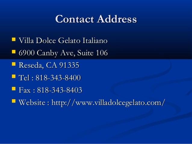 Gelato Company Slide 2