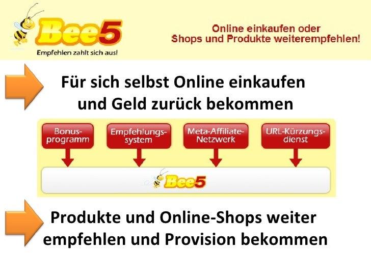 Für sich selbst Online einkaufen  und Geld zurück bekommen Produkte und Online-Shops weiter  empfehlen und Provision bekom...