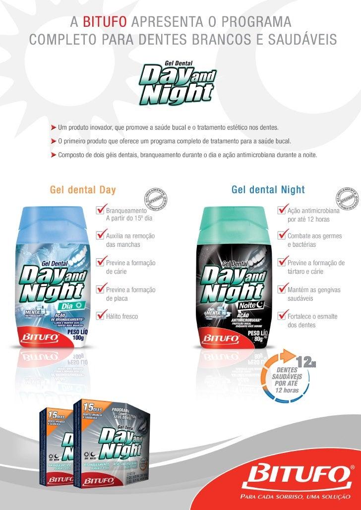 Gel Day and Night Bitufo - Informações técnicas