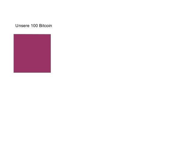 Unsere 100 Bitcoin