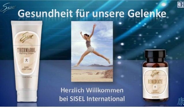 Gesundheit für unsere Gelenke Herzlich Willkommen bei SISEL International